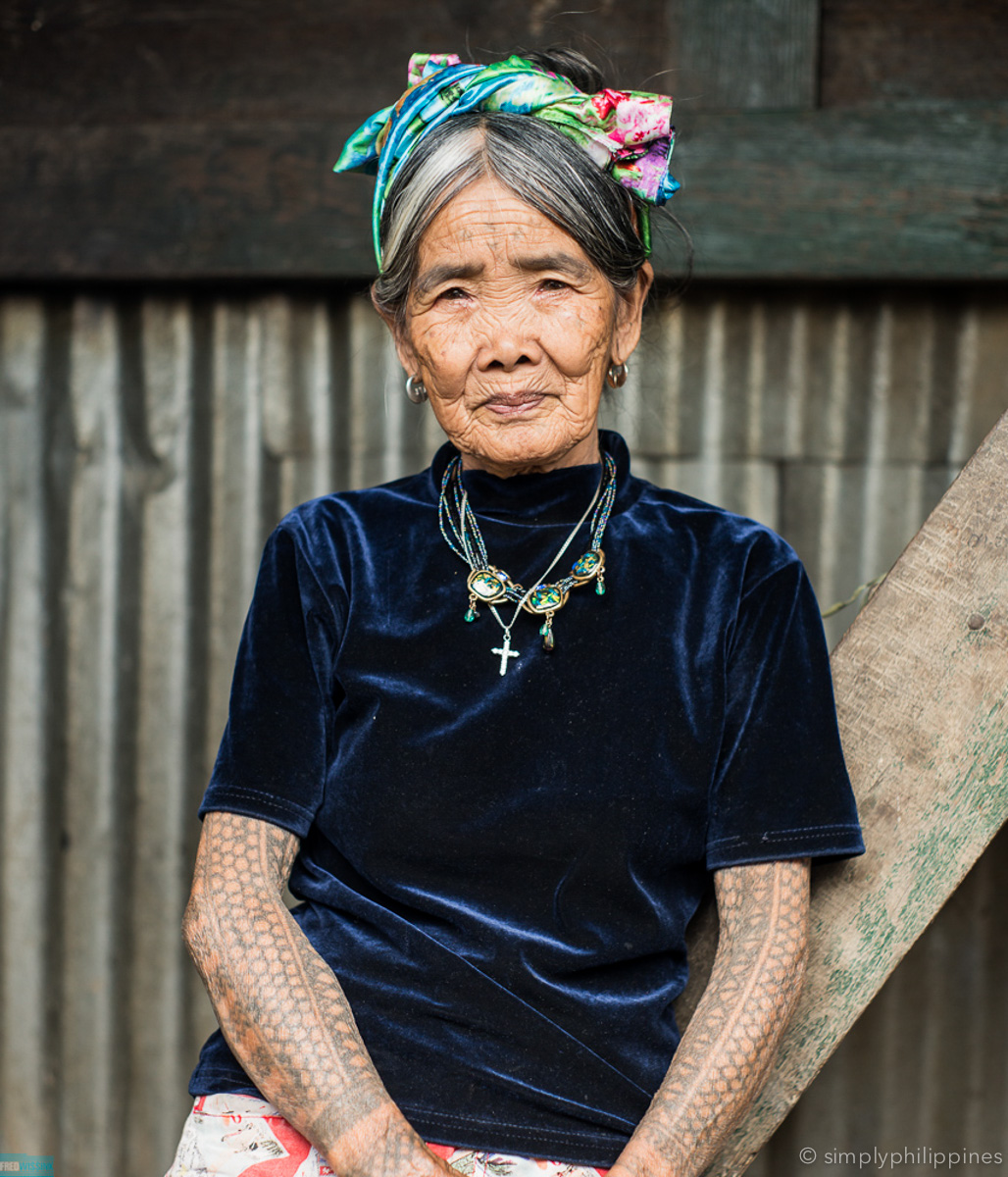 Apo Whang Od, the oldest hand-tap tattoo artist of the Kalinga tribe