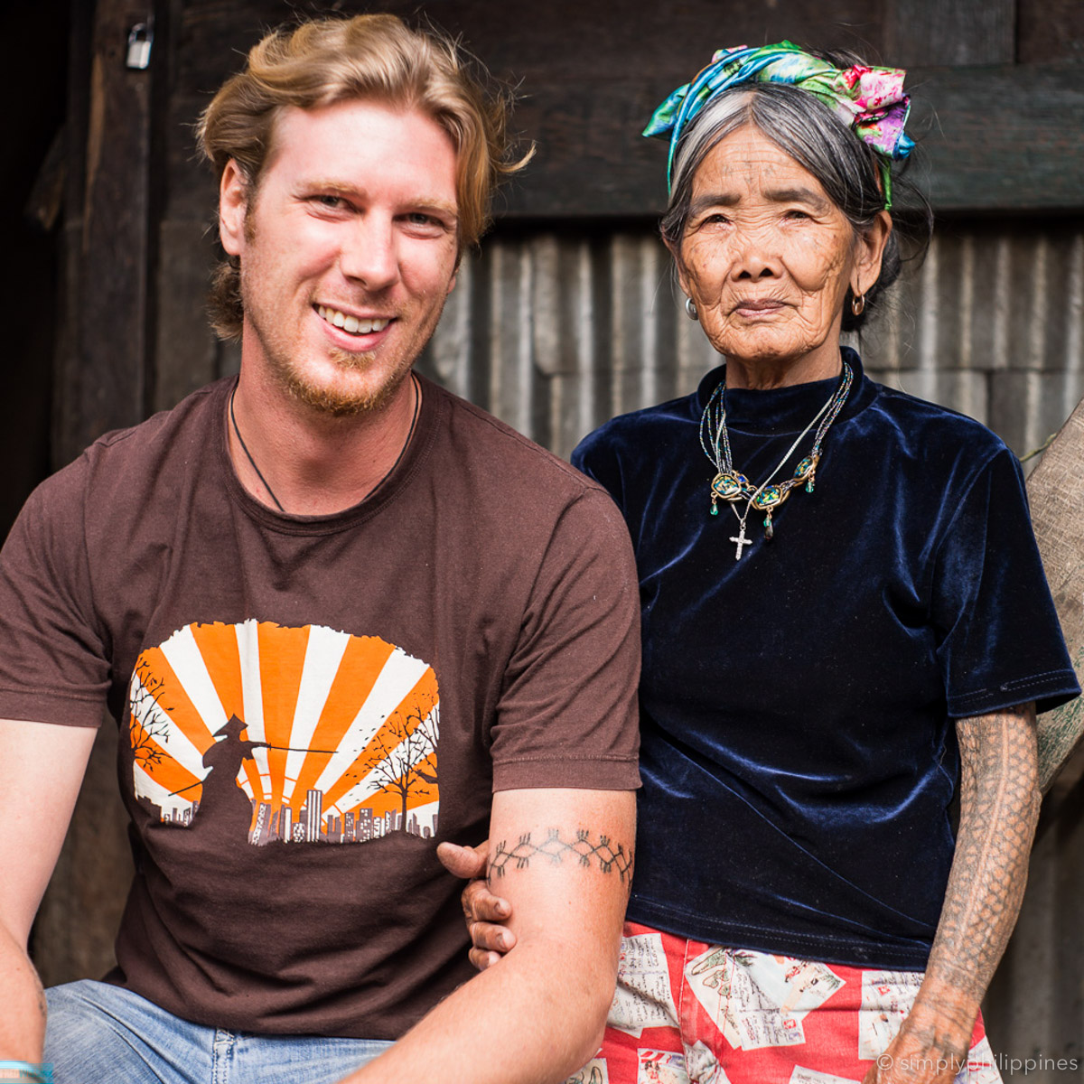 Photographer Fred Wissink with Apo Whang Od